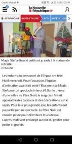 spectacle EHPAD